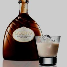 Godiva White Chocolate Liqueur... Alcohol Chocolate, White Chocolate Liqueur, Cocktails, Drinks, Wine Decanter, Happy Hour, Barware, Bottle, Food