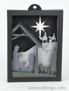 3D Nativity Shadow Box