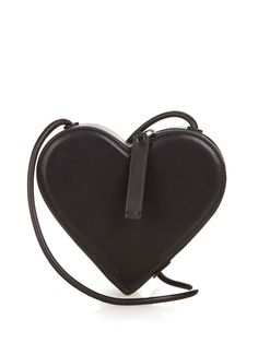 Heart leather cross-body bag by Christopher Kane | Shop now at #MATCHESFASHION.COM