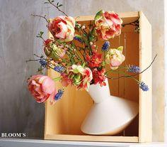 Frühlingsdeko mit Tulpen in der Vase Merana - www.tiziano-shop.com