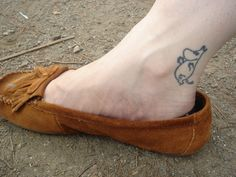 this moomin lives on her ankle