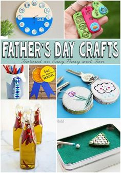 Fathers Day Crafts Kids Can Make - these are great DIY projects for the kiddos!
