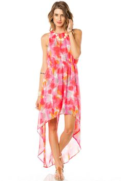 ShopSosie Style : Color Crush Hi Lo Dress  OBSESS WITH BRIGHT COLORS