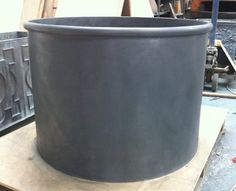 Plain & Strapped Round Lead Planters
