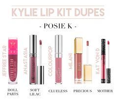 Kylie Cosmetics. Kylie Cosmetics Dupes. Best Liquid Lipstick Dupes. Posie K…