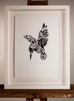 NEW! KOTARE NUGGET | Screenprint: 250mm x 350mm $80 Edition of 50 | Flox.co.nz Paper Cutting, Cut Paper, White Box Frame, Nz Art, Maori Art, Box Frames, Paper Art, Screen Printing, Design Inspiration