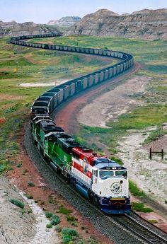 Freight train. North Dakota (USA).