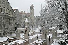 Sample Gates in Winter; Indiana University, Bloomington, IN