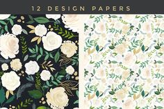 Watercolor Floral Design Set -Audrey - Illustrations