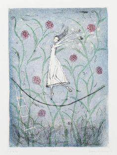 "Emmi Vuorinen: ""Huoleton (Carefree)"" Finnish Women, Water Lilies, Artist At Work, Finland, Surrealism, Helene Schjerfbeck, Helmet, Illustration Art, Bloom"
