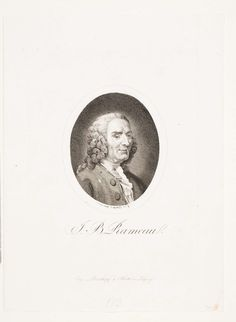 Jean-Philippe Rameau (1683-1764), engraving (1802), by Friedrich Wilhelm Bollinger (1777-1825), after a terracotta bust (1760), by Jean-Jacques Caffieri (1725-1792).