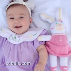100% cotton knit rabbit from zubels.com 100% cotton hand made