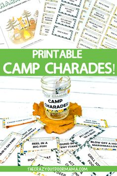 If you're looking for a fun printable camping game, then check out these camping charades! These 27 prompts are sure to bring laughs as each person acts out various camp activities! Wether your stuck Retro Camping, Camping With Kids, Family Camping, Indoor Camping, Backyard Camping, Tent Camping, Camping Bedroom, Camping Bingo, Camping Outdoors
