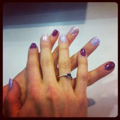 Glamour online ed Meredith Turits' purple ombre mani. #nails