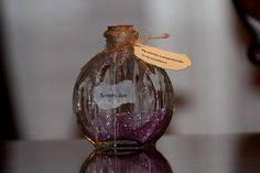 Serenity Dust Glass Apothecary Bottle with Recovery Saying tag-AA-NA-Al-Anon  -Unique Gift- Birthday- Recovery- Sympathy- Bereavement by DesignsByBia on Etsy