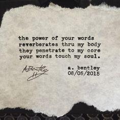 """Your Words."" Get signed poem prints on my official Etsy shop. Click link in bio. #abentley #poem #poems #poetry #typewriter #writer #poet #words #wordart #body #soul #happy #instapoem #life"