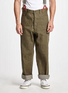 Harem Pants Men, Trousers, Nigel Cabourn, Japanese Denim, Mode Masculine, Cool Jackets, Sports Jacket, Workwear, Casual Pants
