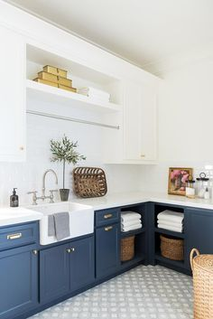 54 kitchen design trends that will be huge in 2019 14 « Home Decoration Laundry Room Storage, Laundry Room Design, Kitchen Organization, Kitchen Shelves, Kitchen Backsplash, Backsplash Ideas, Kitchen Counters, Kitchen Fixtures, Kitchen Storage