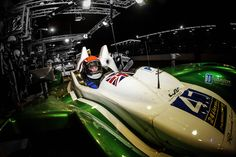 Under the night lights in the pits