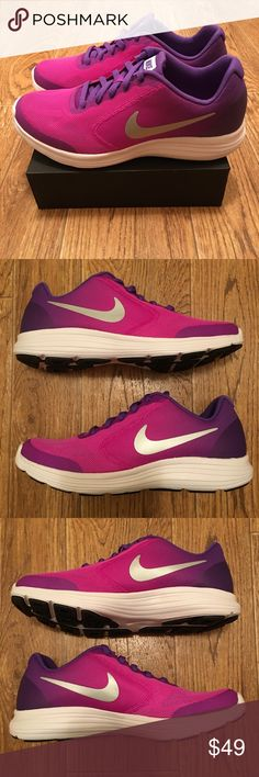 Nike  Revolution 3 Hyper Violet Youth Shoes Brand new Nike Revolution 3  youth running 60ae11d6259a