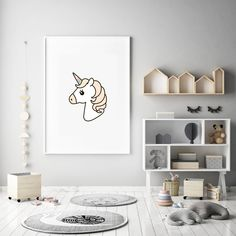 The Unicorn is printed on high-quality paper. Simply add a frame or magnetic sticks. Unicorn Print, Range, Paper, Prints, Kids, Home Decor, Young Children, Cookers, Boys