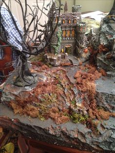Castle Dracula Halloween village