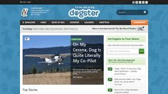 Dogster - A magazine style news blog for all things dog. Nicely laid out and informative site.