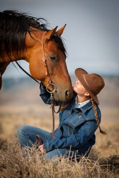 A cowgirl and her horse = a special bond