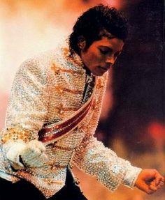Michael Jackson Victory Tour Jacket White Sequins