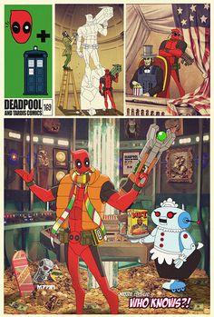 what if... deadpool had a TARDIS via m7781 on deviantART