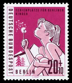 Organizing vacation spots for childs of Berlin Graphics by L. Wüst First Day of Issue: 15. September 1960