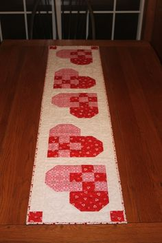 Valentine Table Runner U0026 Topper