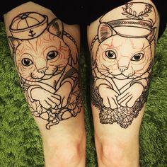 """Tattoo legat cat - Sara-Maria Westerlund (@saramariawesterlund) on Instagram: """"Vet att ni är nyfikna, så vassego! Fattas bara en jävla massa färg, sedan är de klara.…"""""""