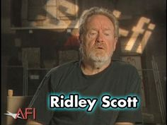 Ridely discusses Harrison Ford as the main character in Bladerunner.