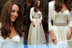 Catherine, Duchess of Cambridge wows onlookers with her second wedding dress, the dress will cope with the heavy dance load at the evening reception. What do you think of the Sarah Burton dress? (Getty Images)