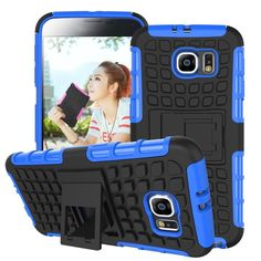 For Samsung Galaxy S6 Case G9200 Hard Cover Heavy Duty Armor Hybrid Rugged Rubber Silicone Stand Phone Case for Samsung S6 (<