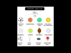 English vocabulary: sport balls. www.englisheverywhereforeveryone.com English Vocabulary, Esl, Balls, Improve Yourself, Sports, Hs Sports, Sport, Exercise