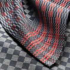 """Half-Linen Miner's Cloth: """"In the old days every miner had one of these in his bag – a cloth to dry himself off with a special black pattern to hide the smears of coal dust. Typically, this would be a criss-cross grey-black diamond pattern."""""""