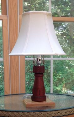Recycling an old #fire nozzle into a lamp for your home.  #DIYFire