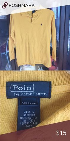 Boy's Ralph Lauren Yellow Polo Sport Shirt This item has a small hole on the lower front. Easily stitched. Otherwise a great item! Polo by Ralph Lauren Shirts & Tops Polos