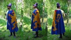 Heraldischer Mantel aus Seide