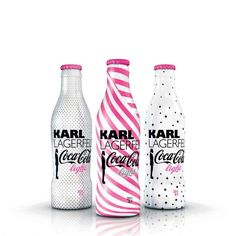 Coca Cola packaging designed by Karl Lagerfeld.