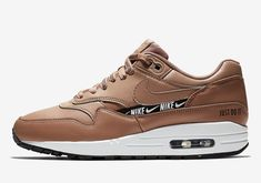 best website 88311 dc9e9 The Nike Air Max 1 In Tan Adds New Logo Elements