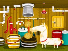 A day on the farm on Behance