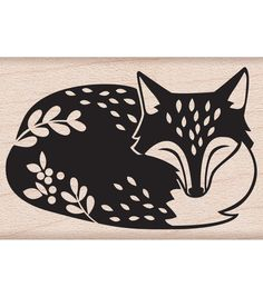 Hero Arts® Mounted Rubber Stamp By Lia-Sleeping Fox                                                                                                                                                                                 More