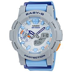 Casio BabyG CC Series White  Blue Dial Resin Quartz Ladies Watch BGA1852 -- Want to know more, click on the image.