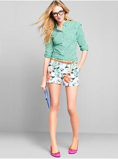 CUTE! wish i looked good in shorts! Womens Clothing: Womens Clothing: Featured Outfits Shorts   Gap