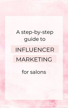 This is a salon marketing idea that works whether you're a hairdresser, nail tech, esthetician, or spray tanner! Whatever your beauty niche, there are exciting influencer collaborations waiting for you!