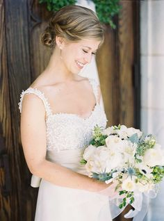 Dusty blue decor is perfect for a charming Georgia wedding planned and designed by Molly McKinley Designs. Our favorite highlights of this southern celebration include the soft tulle Jenny Yoo bridesmaid dresses and a simple, elegant wedding cake created by Eileen Carter Creations. All the details are pulled together perfectly for a vintage-style event with a romantic touch of lush […]