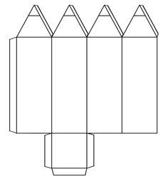molde caixinha de lápis
